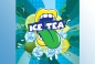 Mobile Preview: Big Mouth Ice Tea Aroma Zitronen / Limetten Eistee