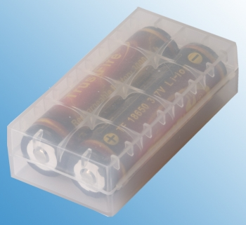 18650 Batterie Tragetasche - clear Battery case