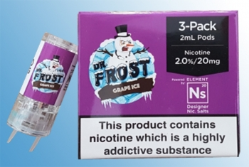 3 x Dr. Frost Grape Ice Nikotinsalz Liquid Aspire Gusto