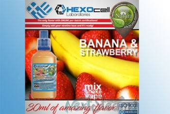 Ice Banana & Strawberry – Hexocell Liquid 30ml