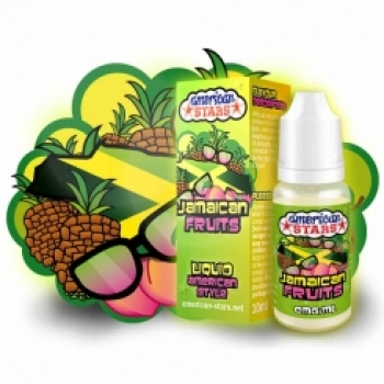 American Stars  Jamaican Fruits Liquid 10ml (Ananas, Pfirsich & Amaretto)