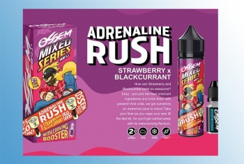 Adrenaline Rush Ossem Liquid 60ml + Cooling Booster