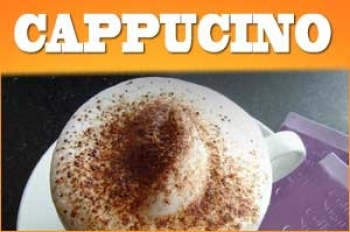 Cappuccino Aroma 10ml + Chubby 100ml Flasche