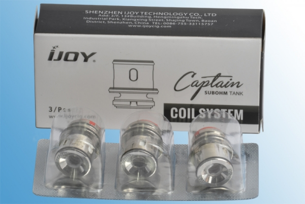 3 x Ijoy Captain S CA2 Coils (1 x Packung)
