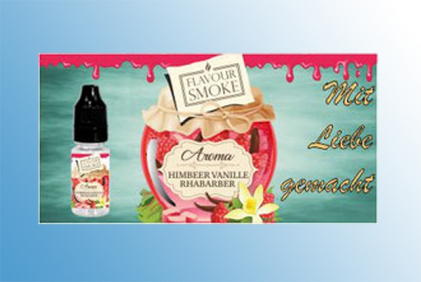 Himbeer / Vanille / Rhabarber Flavour Smoke Aroma 10 ml Himbeer-Rhabarber-Vanille Marmelade