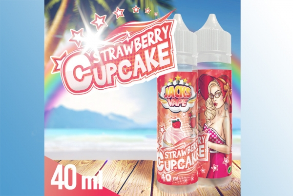 Strawberry Cupcake Jacks Vape Liquid 60ml Cupcake mit Erdbeer-Topping