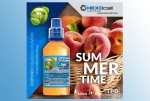 Summer Time! – Hexocell Liquid 30ml fruchtiges Pfirsich Aroma