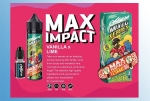 Max Impact Ossem Liquid 60ml + Cooling Booster Vanille trifft auf Limette